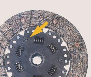 damaged clutch plate